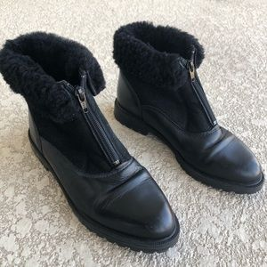 La Canadienne Shearling Leather Suede Boots size 6